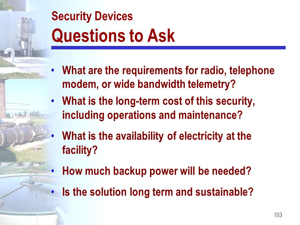 Security Devices Questions to Ask