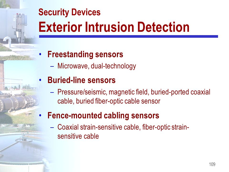 Security Devices Exterior Intrusion Detection