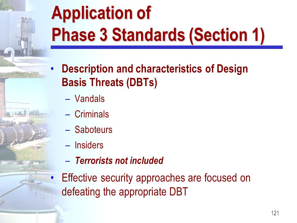 Application of Phase 3 Standards (Section 1)