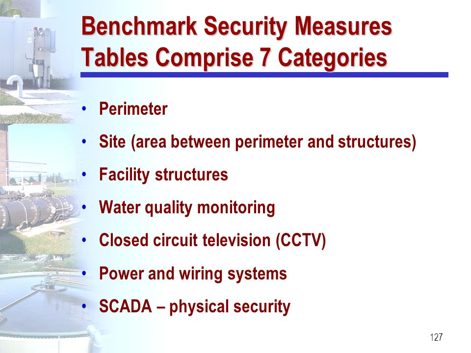 Benchmark Security Measures Tables Comprise 7 Categories