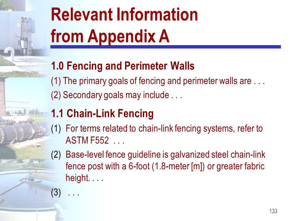Relevant Information from Appendix A