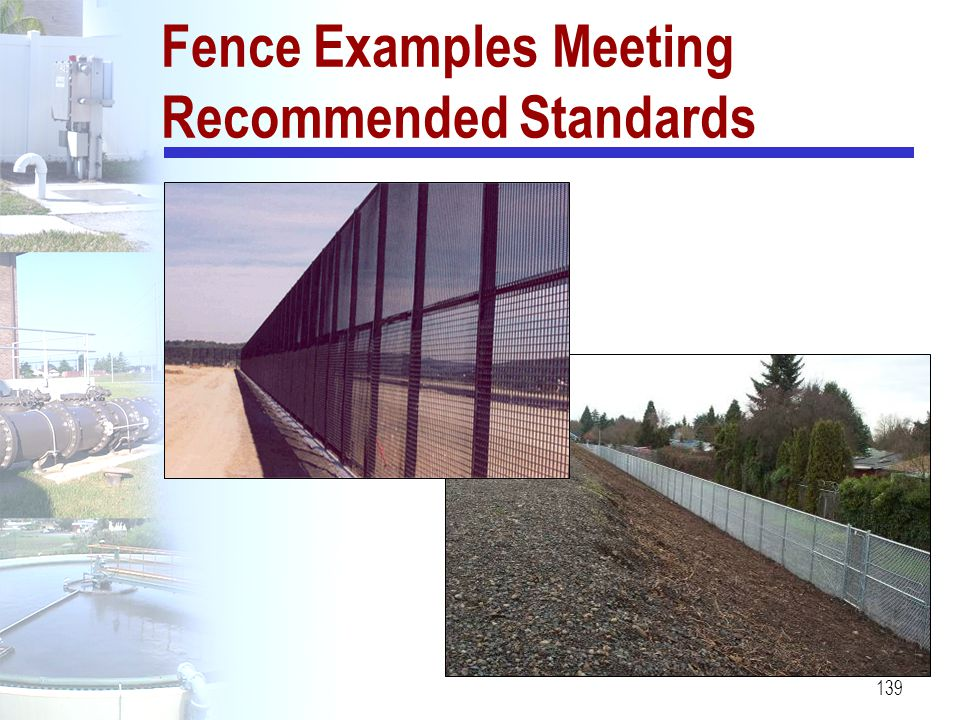 Fence Examples Meeting Recommended Standards