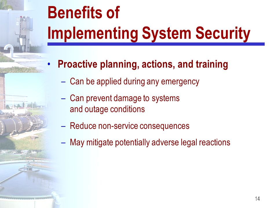 Benefits of Implementing System Security