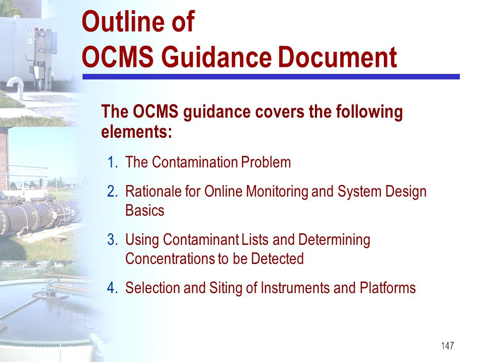 Outline of OCMS Guidance Document