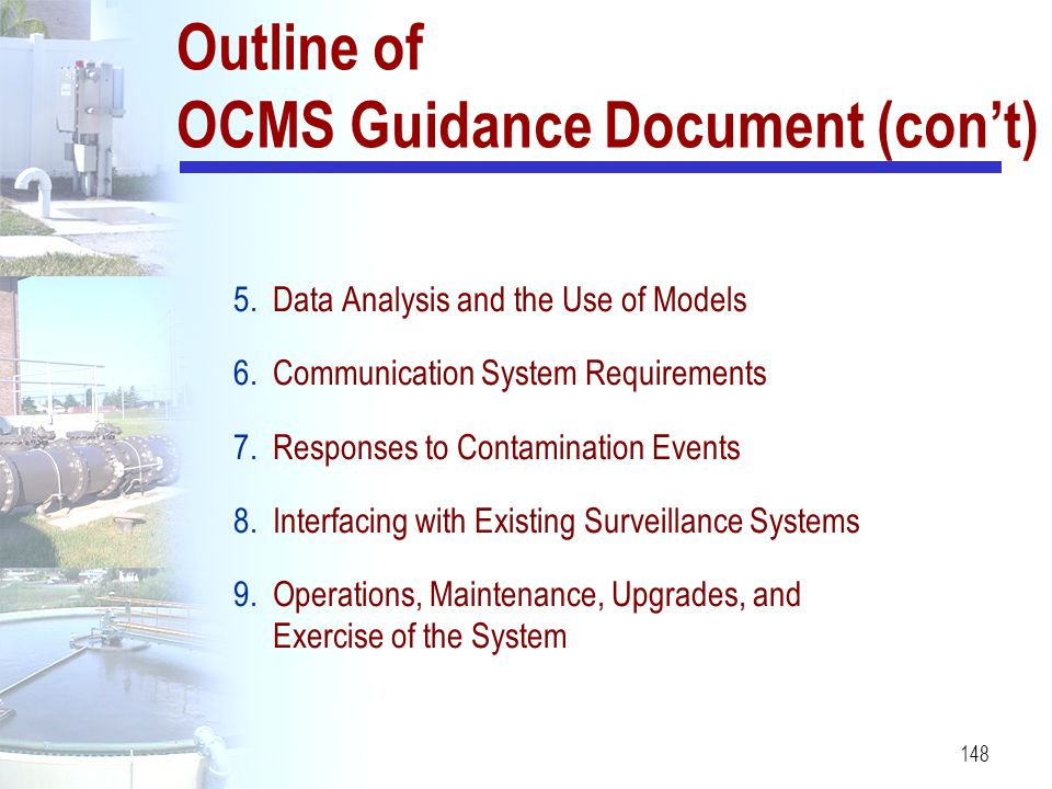 Outline of OCMS Guidance Document (con't)