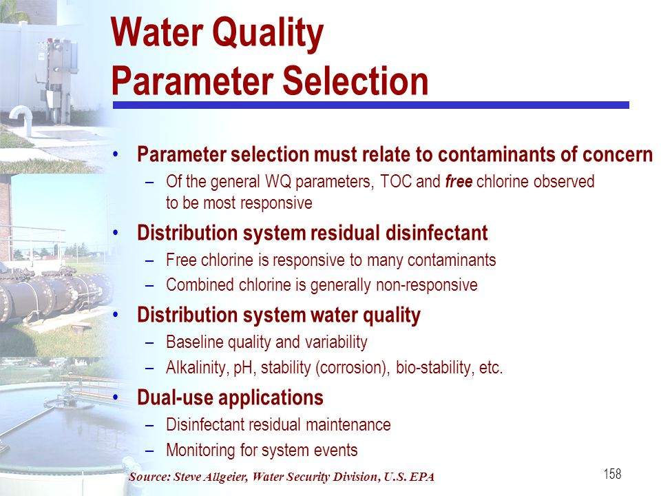 Water Quality Parameter Selection