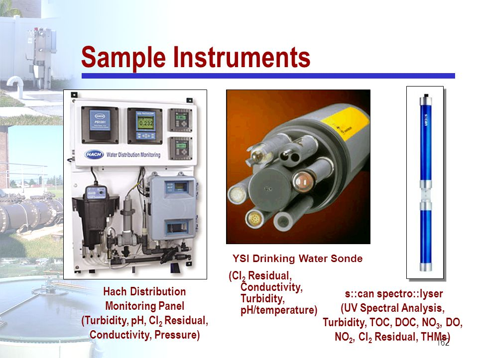 Sample Instruments YSI Drinking Water Sonde. (Cl2 Residual, Conductivity, Turbidity, pH/temperature)