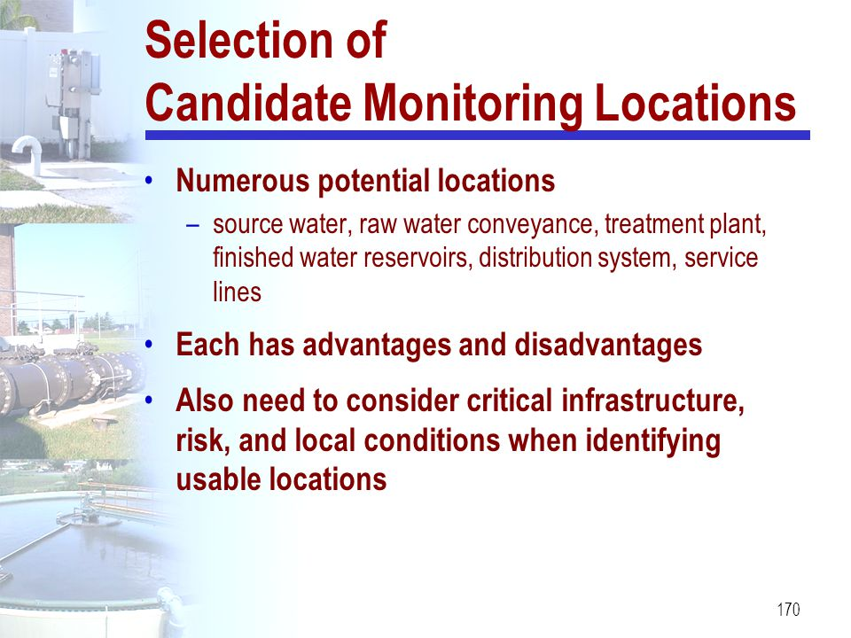 Selection of Candidate Monitoring Locations