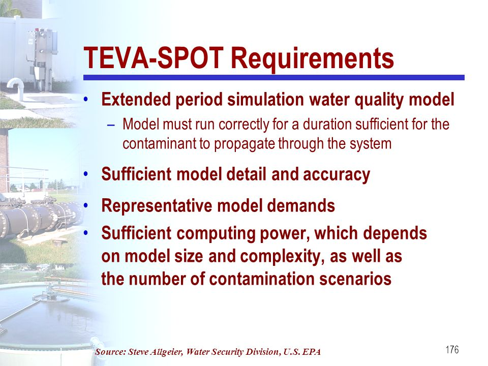 TEVA-SPOT Requirements