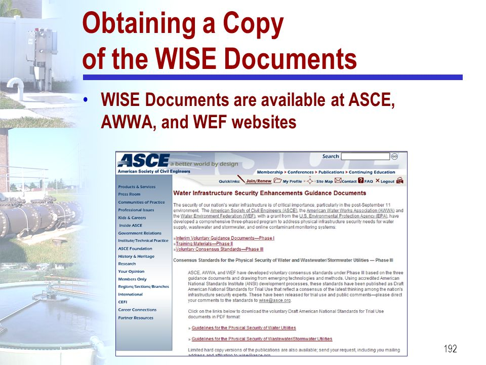 Obtaining a Copy of the WISE Documents