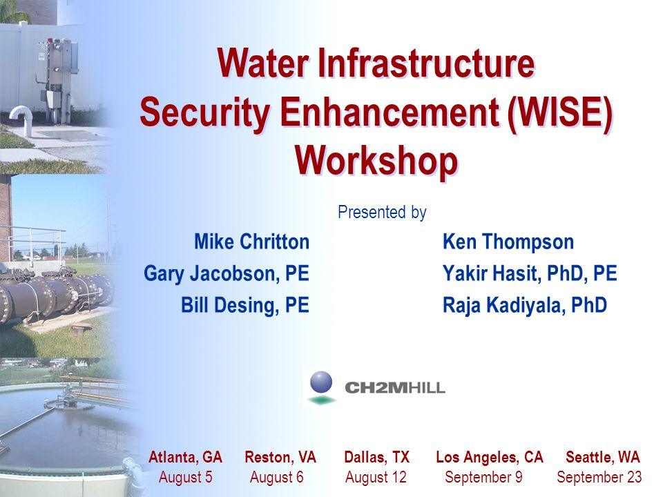 Water Infrastructure Security Enhancement (WISE) Workshop