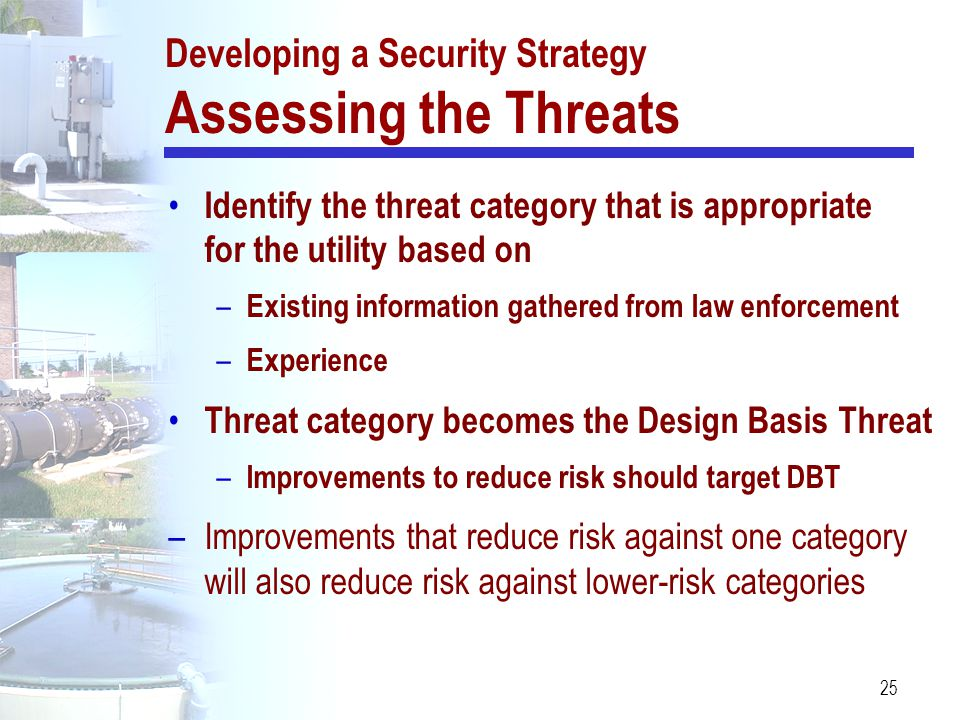 Developing a Security Strategy Assessing the Threats