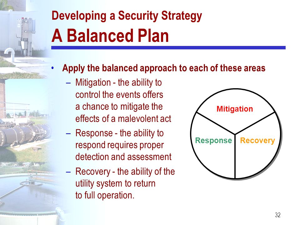 Developing a Security Strategy A Balanced Plan