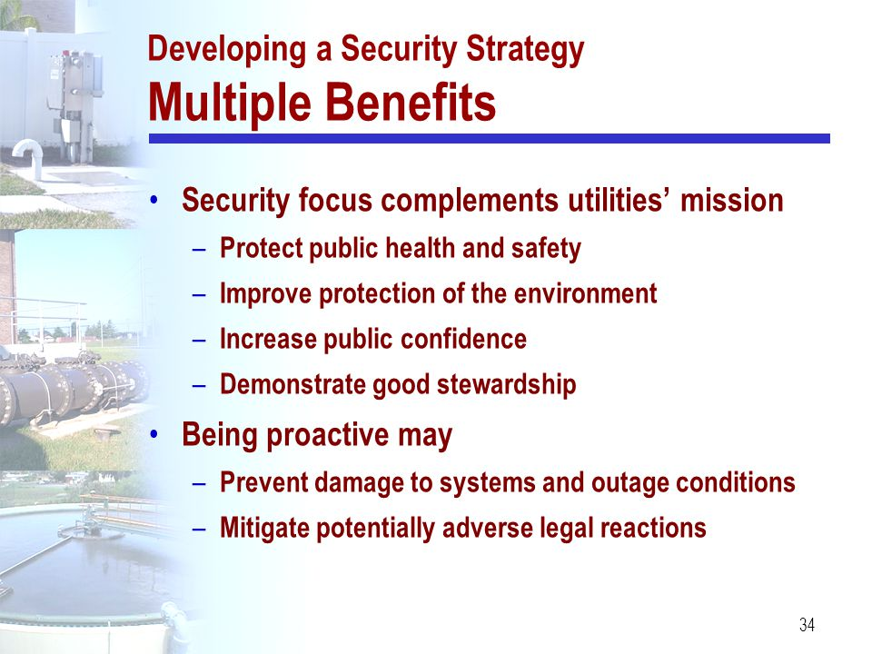Developing a Security Strategy Multiple Benefits
