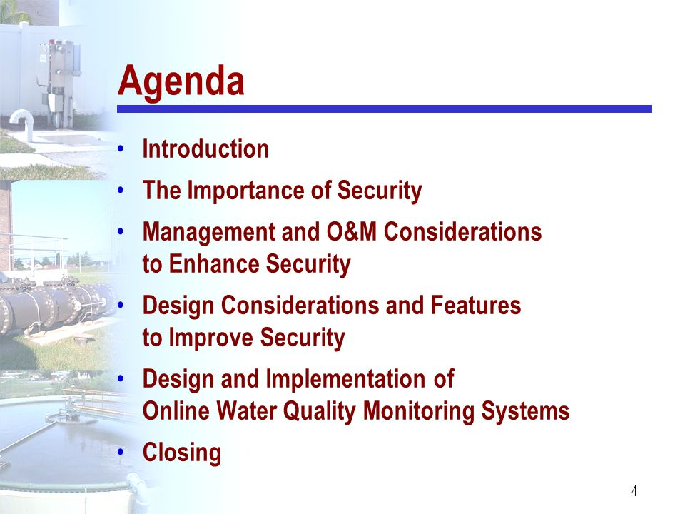 Agenda Introduction The Importance of Security
