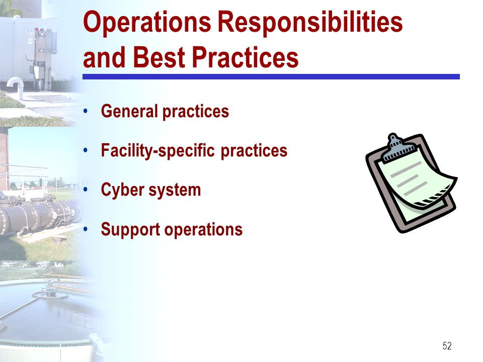 Operations Responsibilities and Best Practices