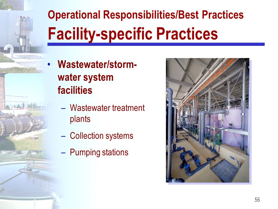 Operational Responsibilities/Best Practices Facility-specific Practices