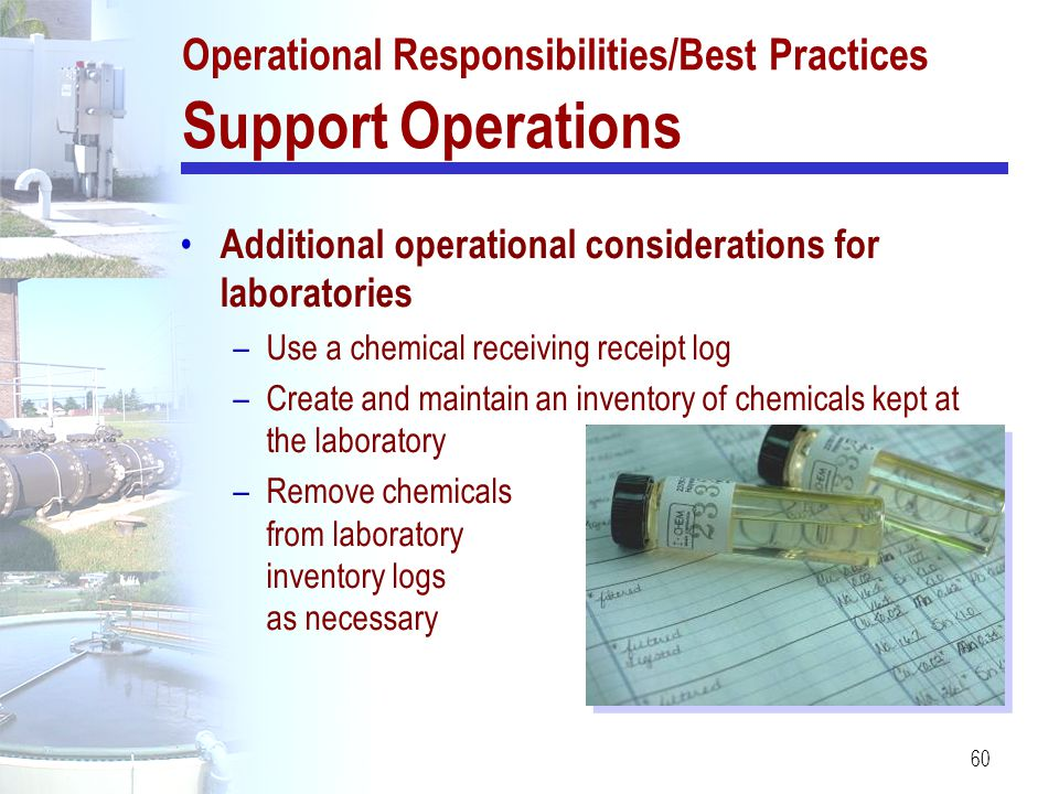 Operational Responsibilities/Best Practices Support Operations