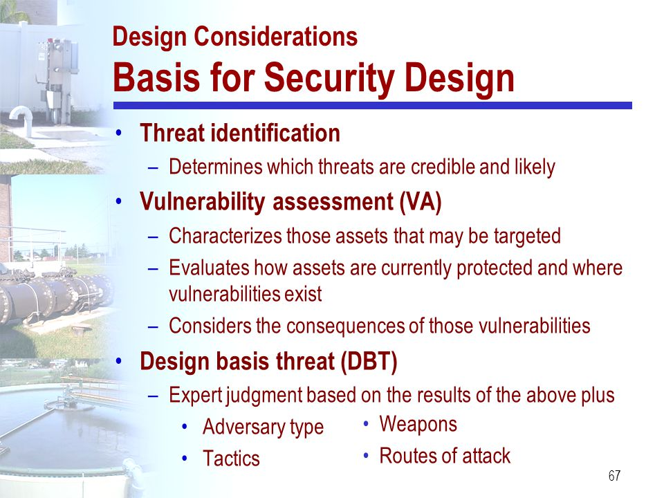 Design Considerations Basis for Security Design