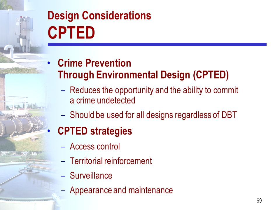 Design Considerations CPTED