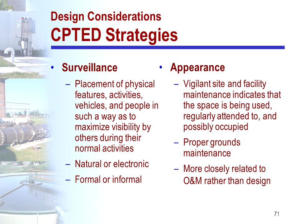 Design Considerations CPTED Strategies