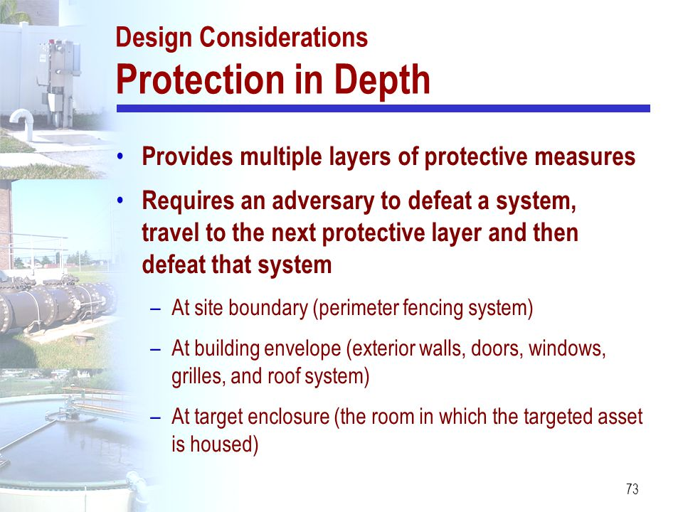Design Considerations Protection in Depth