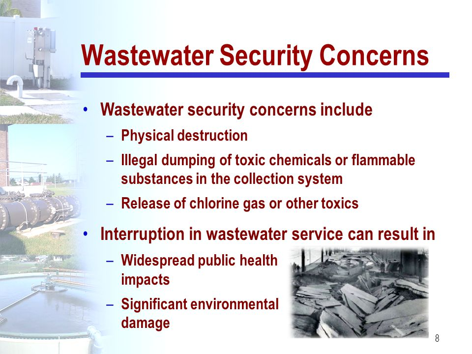 Wastewater Security Concerns