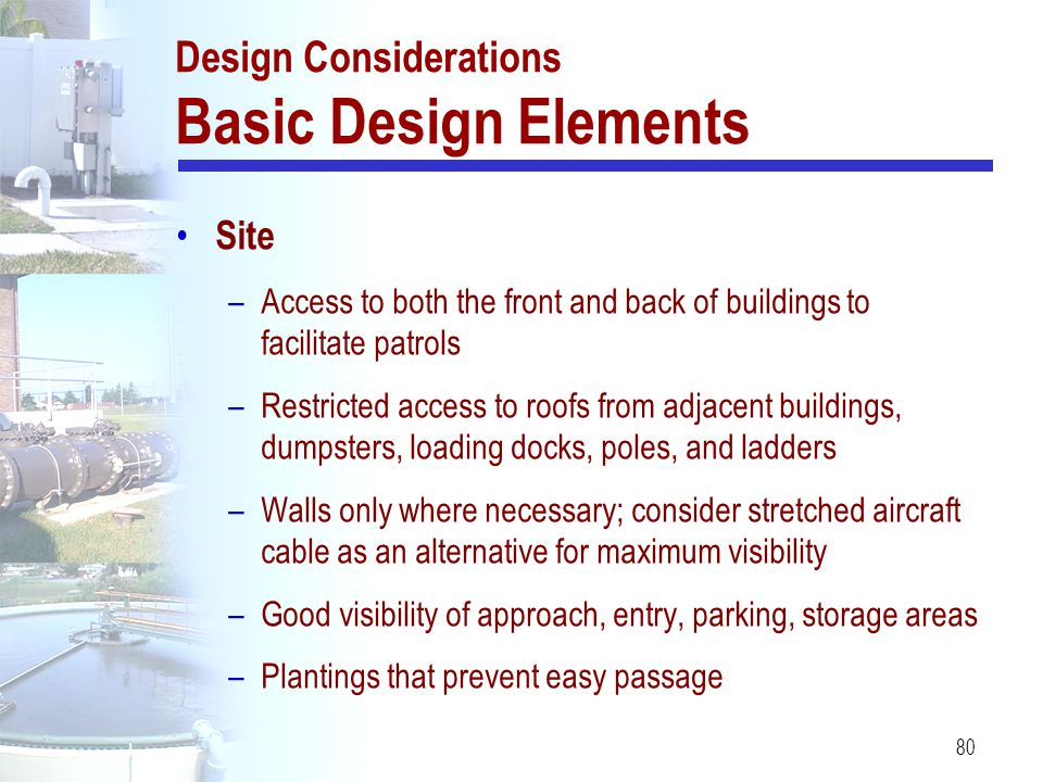 Design Considerations Basic Design Elements