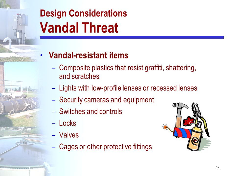 Design Considerations Vandal Threat