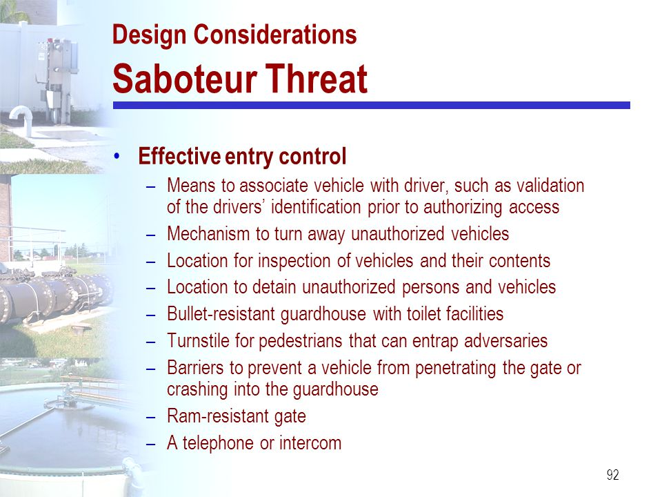 Design Considerations Saboteur Threat