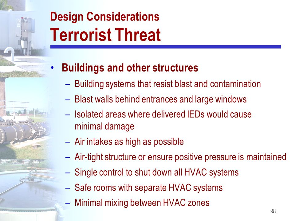 Design Considerations Terrorist Threat