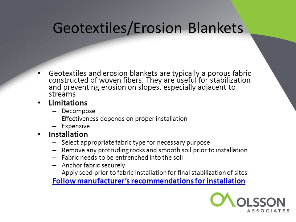 Geotextiles/Erosion Blankets
