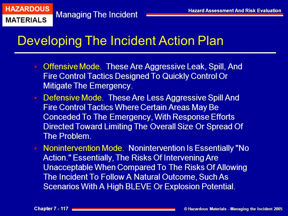 Developing The Incident Action Plan