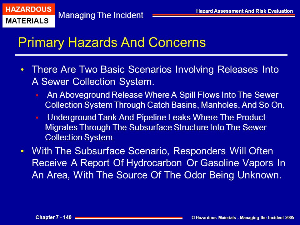 Primary Hazards And Concerns