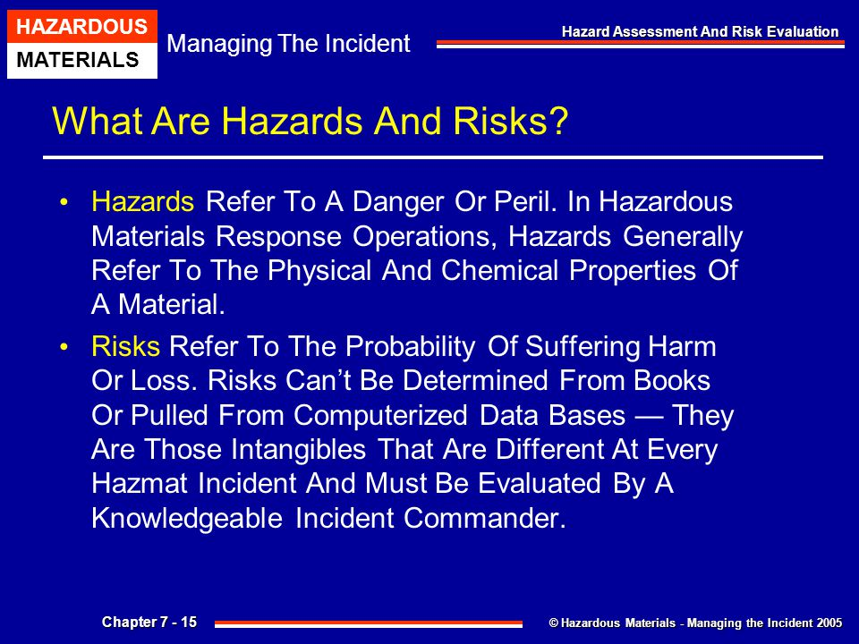 What Are Hazards And Risks