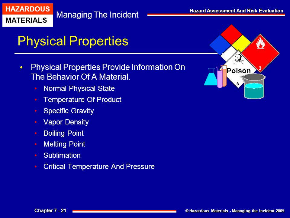 Physical Properties 6. Poison. Physical Properties Provide Information On The Behavior Of A Material.