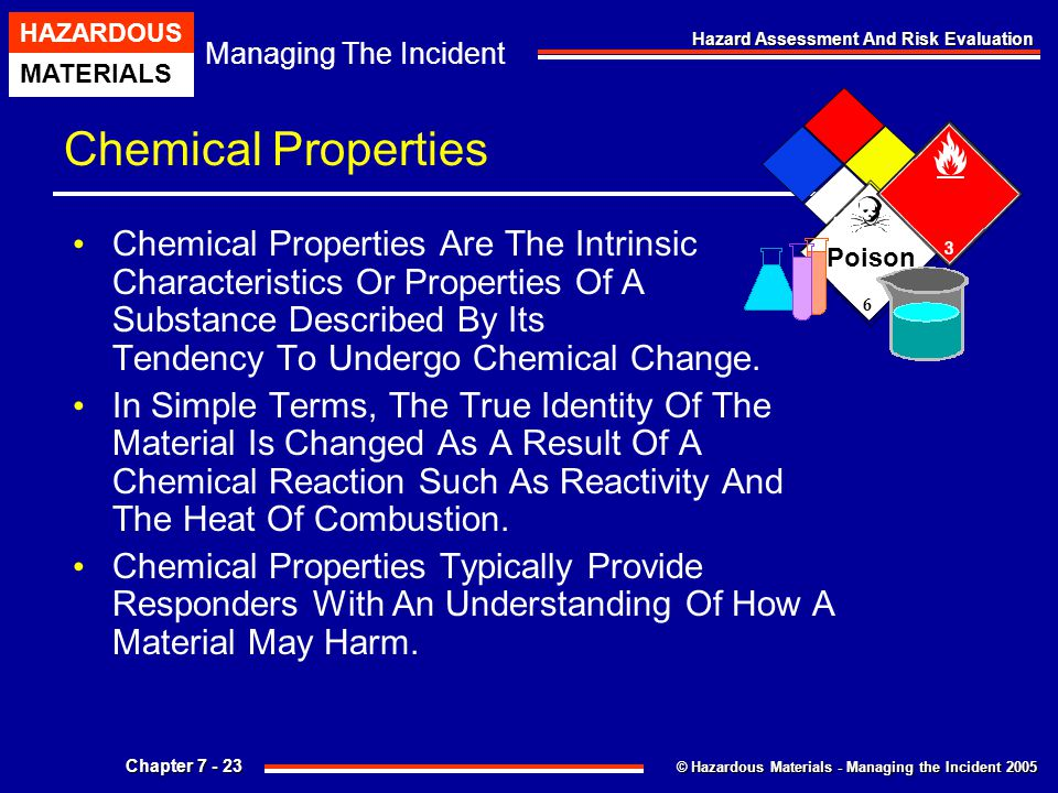 Chemical Properties 6. Poison.