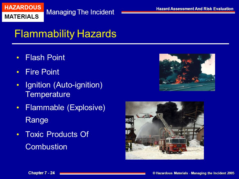 Flammability Hazards Flash Point Fire Point