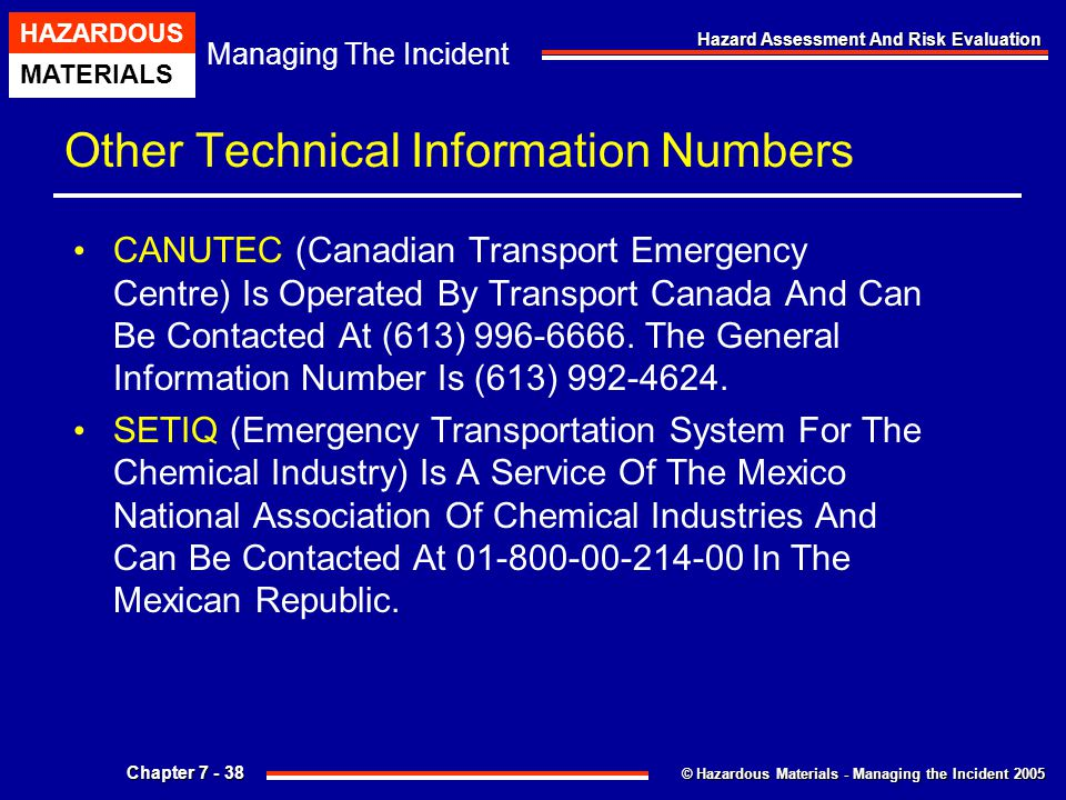 Other Technical Information Numbers
