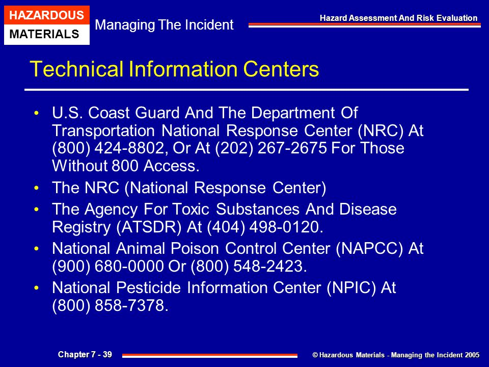 Technical Information Centers