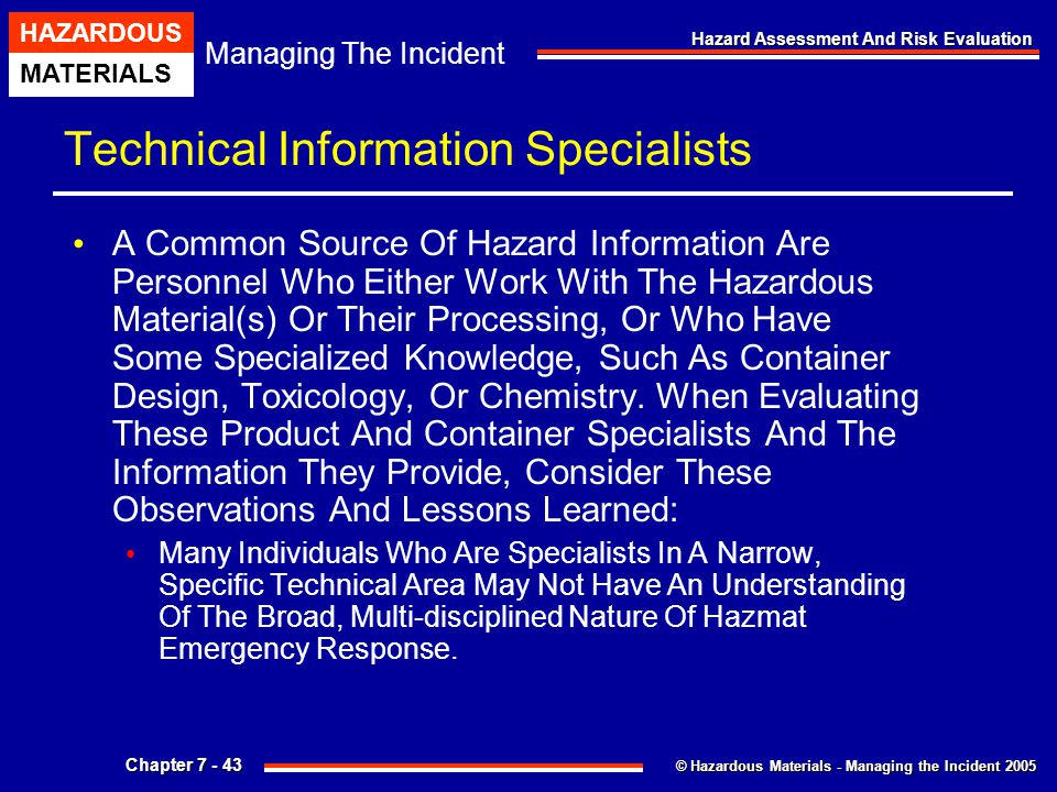 Technical Information Specialists