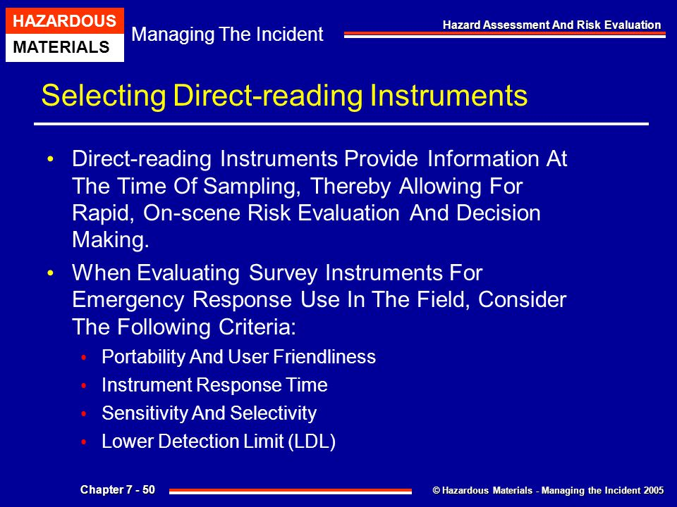 Selecting Direct-reading Instruments