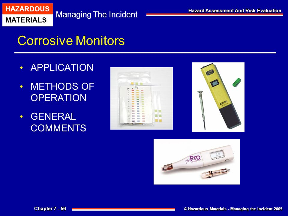 Corrosive Monitors APPLICATION METHODS OF OPERATION GENERAL COMMENTS