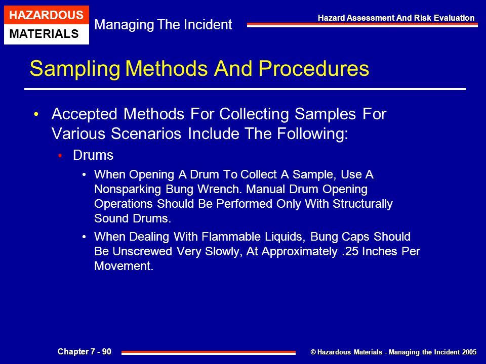 Sampling Methods And Procedures