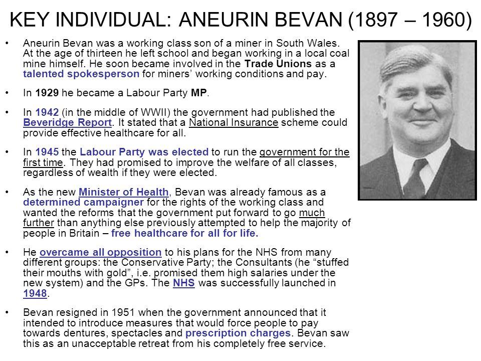 KEY INDIVIDUAL: ANEURIN BEVAN (1897 – 1960)