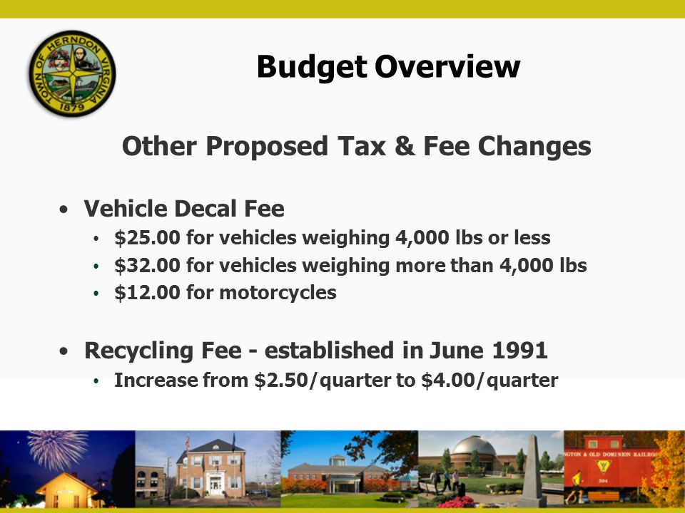 Other Proposed Tax & Fee Changes