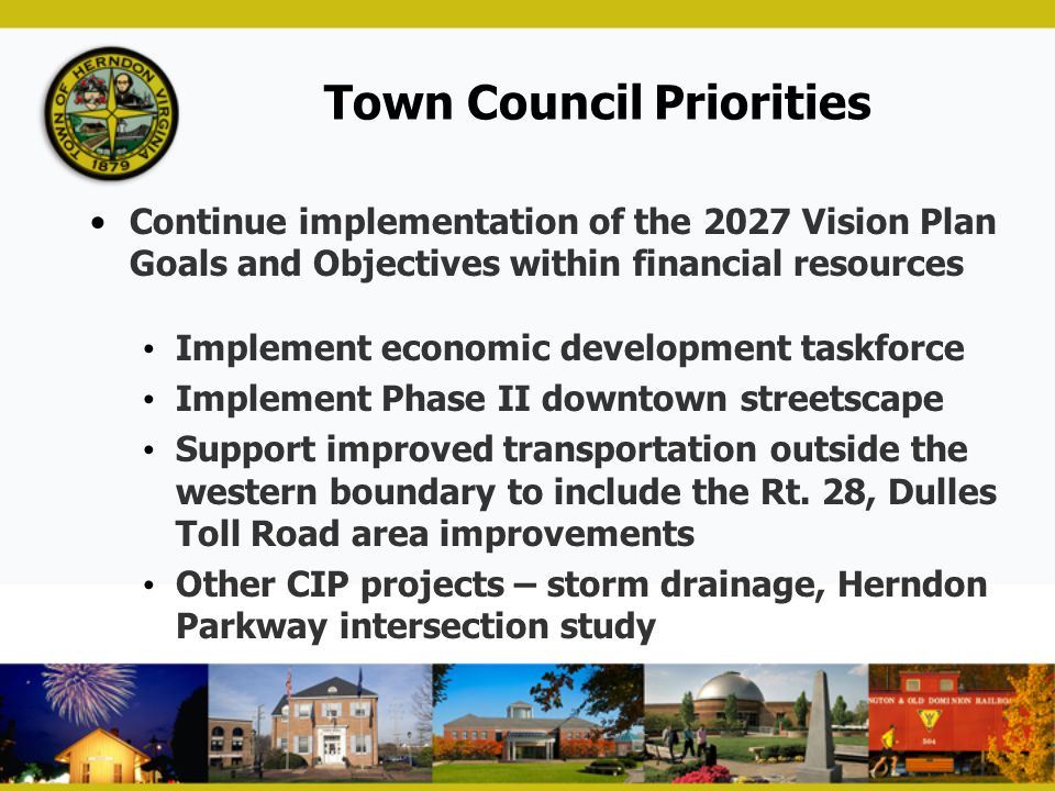 Town Council Priorities