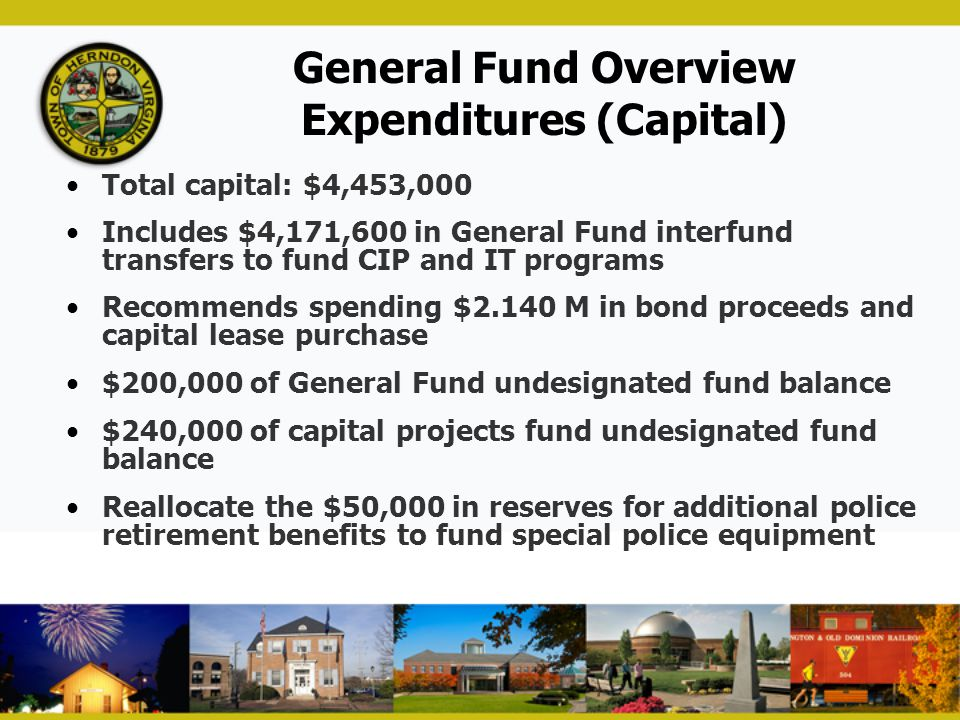 General Fund Overview Expenditures (Capital)