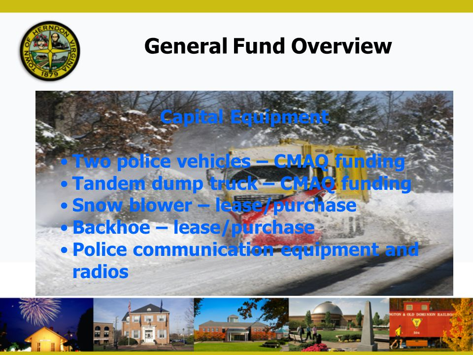 General Fund Overview Capital Equipment