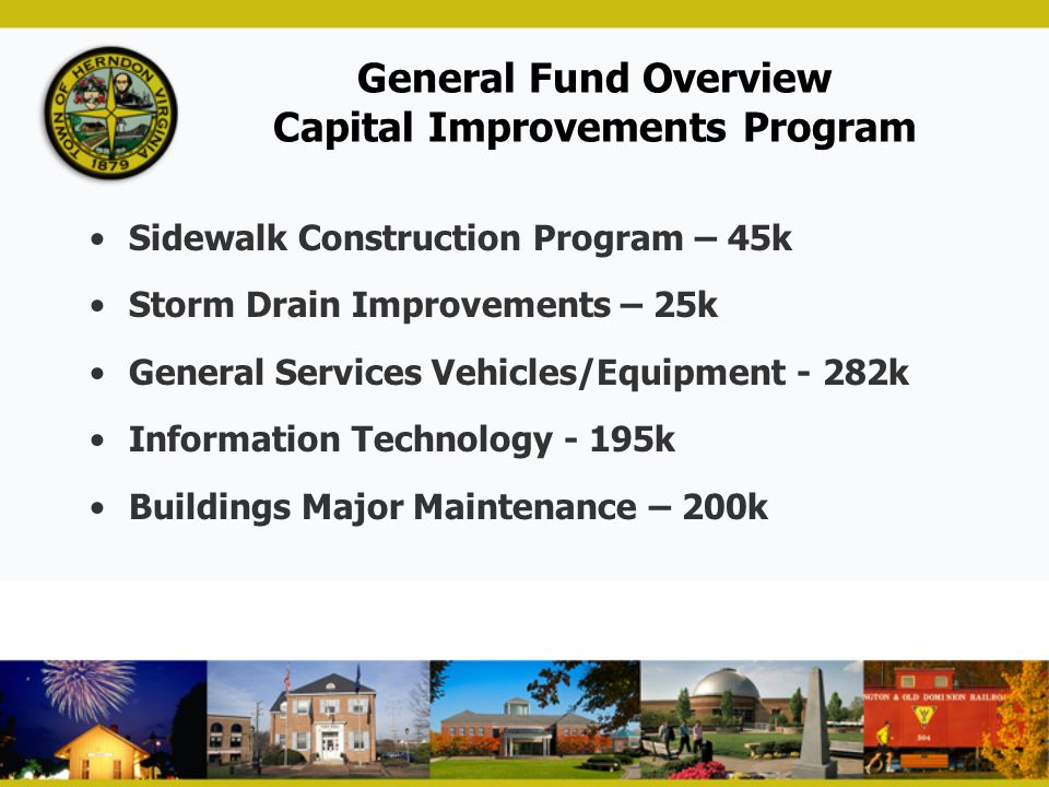 General Fund Overview Capital Improvements Program